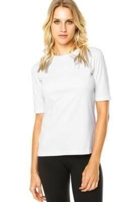 852ed93a1 Camiseta Mega Dry Mc Feminina Proteção Solar Uv Line Branco - R  89 ...