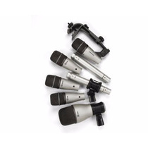 Kit Juego De 7 Microfonos P/ Audio De Bateria Grabar Bateria