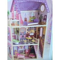Casa Casinha Bonecas Kidkraft Dollhouse C Moveis Madeira Usa