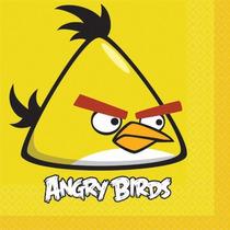 Partido Angry Birds \ Suministros 12 Servilletas Almuerzo -
