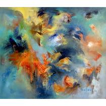 Cuadro Óleo Original 70 X 60 Esencialismo Pintura Abstracta