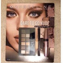 Kit Maybelline The Nudes Palette Lash Sensational E Eyeliner