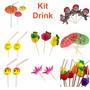 Kit C/ 120 Enfeites P/ Drink - Festa, Balada, Casamento, Bar