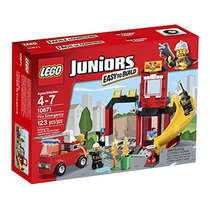 Lego Juniors Fuego Emergencia Edificio Ubicado