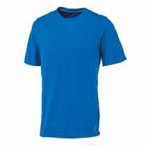 Playera Maratón Dry Tec Hombre Azul Rey