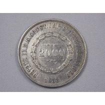 Bela Moeda De Prata - Brasil Imperio - 2000 Réis - 1853