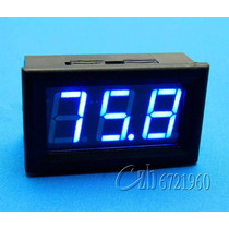 Voltímetro Digital 0 ~ 100 V Dc Automotivo Display Azul