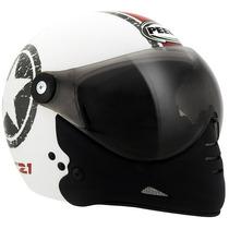 Capacete Moto Peels F21 Navy Branco C/ 2 Viseiras Juntas