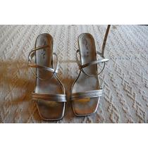 Zapatos Plateados De Fiesta Con Strass Poco Uso