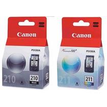 Kit 2 Cartucho Canon 210 Preto + 211 Color Original