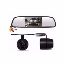 Kit Estacionamento Câmera D Ré Tela 4.3 Espelho Retrovisor