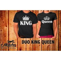 Playeras 14 De Febrero San Valentin Queen King Parejas