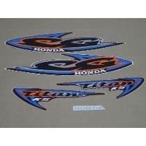 Kit Adesivos Faixas Honda Cg 125 Titan Ks 2000 - Vermelha