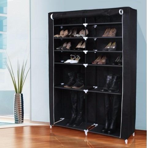 Armario zapatera botas y zapatos 6 niveles 114x28x164 for Zapateras de metal