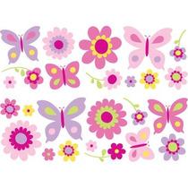 Fun4walls Mariposa Y Las Flores Calcomanías De Pared