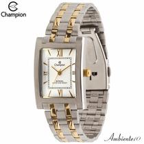 Relógio Champion Feminino Quadrado Prova Wr 30m Ca20143b /