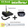 Kit Telefone Celular Rural Fixo Dual Chip Intelbras + Antena