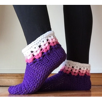 Pantuflas Botas Tejidas A Crochet