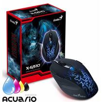 Mouse Gamer Genius X-g510 2000 Dpi 6 Botones Retroiluminado