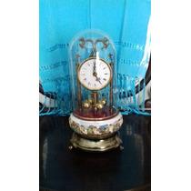 Reloj De Porcelana Capodimonte 37 X 17 Cm Funciona Con Pila