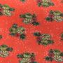 Flores Naranja-Verde (Viscosa)