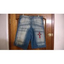 Bermuda Jeans Prelavado Talle 26-contorno Cintura 92cm.