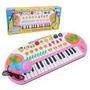 Teclado/piano Musical Microfone Keyboard A Pilha