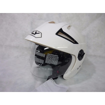 Casco Abierto Con Visor Fly Motos March