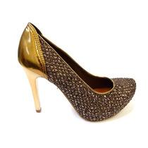 Sapato Meia Pata N5603 Tanara (32) - Marrom/bronze