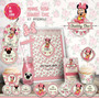 Kit Imprimible Minnie Bebé Shabby Chic Rosa