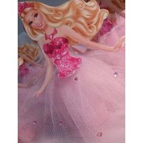Kit(10) Tubetes Barbie Saia Em Tule, Sofia,bela,aurora,froze