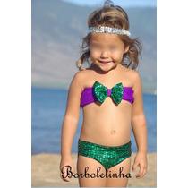 Biquini Infantil Importado Sereia Ariel
