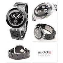 Relógio Swatch Full Blooded Black Svck4035ag -12x Sem Juros