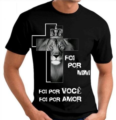 c5b819a74 Camisa camiseta gospel cristã deus evangélica leão judá cruz judá gospel  blusas personalizadas estampas jpg 466x482