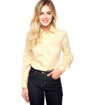 Camisa Dudalina Feminina - Amarela