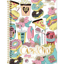 Caderno 10 Matérias Capricho 2017 - C/200 Fls - Tilibra