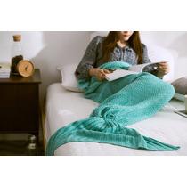 Cobija Cola De Sirena Crochet 1.80m Largo Con Envío Gratis!!