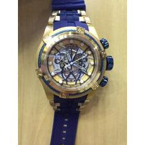 Lindo Relógio Invicta Zeus Bolt Skeleton Azul Lançamento