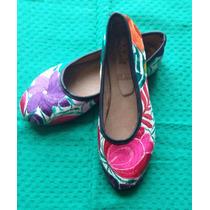 Zapatos Artesanales Bordados Mexicanos Flats Valerinas