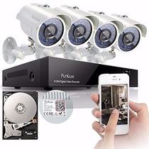 Sistema De Seguridad De 8 Canales Y 4 Camaras Funlux