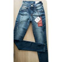 Calça Jeans Feminina Patoge Com Lycra