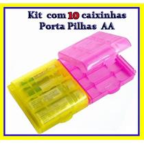 Case Para 4 Pilhas Aa (kit Com 10 Caixinhas)