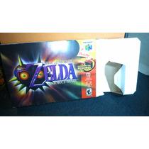 Caja Juego Zelda Majoras Mask Nintendo 64