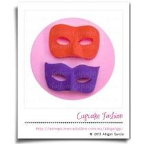 Molde Silicón Antifaz Máscara Fiesta Fondant Cupcake #1573