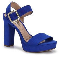 Sandália Salto Conforto Feminina Beira Rio - Azul