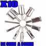Set De 10 Mechas Copa Diamantadas De 6 A 30mm Vidrio Mármol