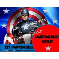 Kit Imprimible Capitan America Vs Iron Man Civil War