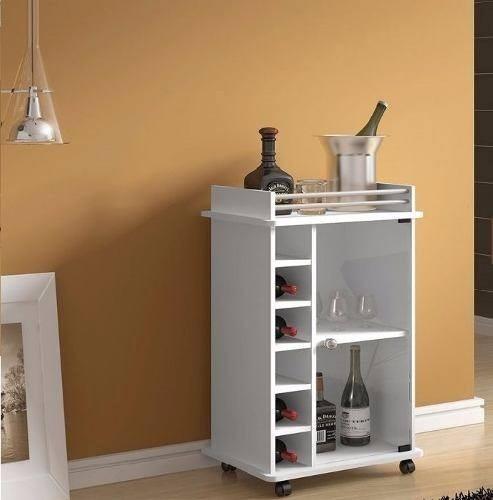 Mueble bar melamina con ruedas s 249 00 en mercado libre for Libro de muebles de melamina