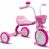 Triciclo 3 Rodas Bicicleta Infantil Menina You 3 Girl Nathor