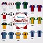 Camisetas Futbol Con Numero Impreso. Numeradas Equipos